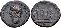 Nero. AD 54-68.  As (27mm, 10.03 g, 6h). Balkan mint (Perinthus?). Struck AD 64-66/8. (Joe Geranio) Tags: caesar kaiser ritratto nero romanempire iconography arthistory romanart romancoins imperator ancientrome romanemperor metallurgy classicalart 1stcenturyad anticaroma bildnis princeps julioclaudian firstcenturyad julioclaudianportraitstudy romanportraitstudy romannumismatics celator diecutters earlyromanempire foreducationaluseonly allcoinscourtesycngcoinscom