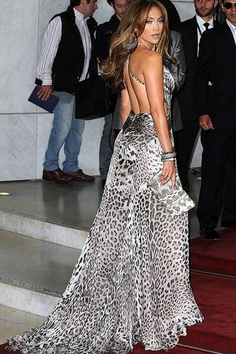 Jennifer Lopez's animal print maxi dress