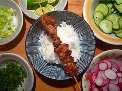 thai pork skewer