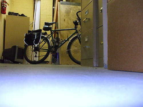 My bicycle, in the storage room