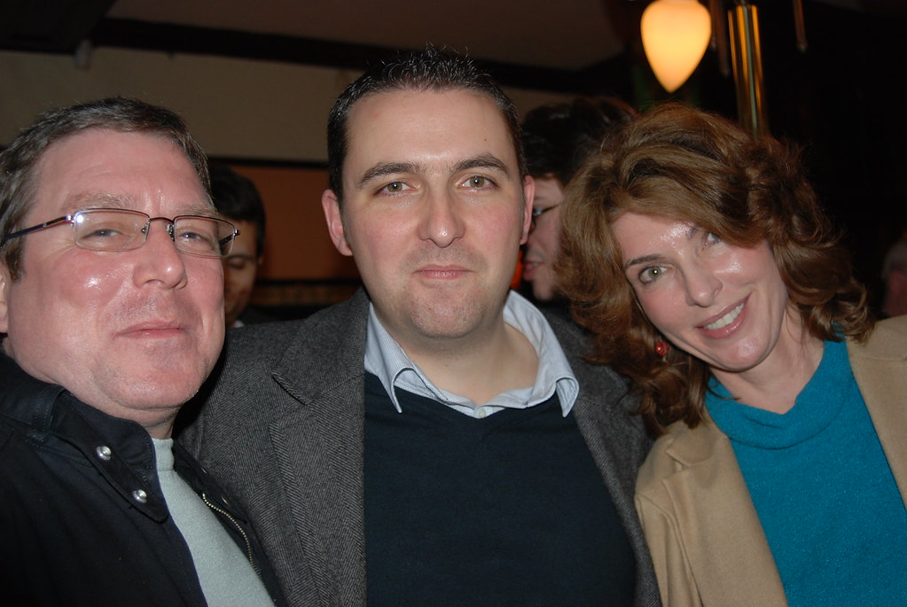Photo of Mike Grehan, Jon Myers, & Christine Churchill taken at SES London 2008