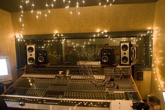 control room of the recording studio.