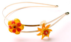 Yellow and Orange Vintage Flowers Headband