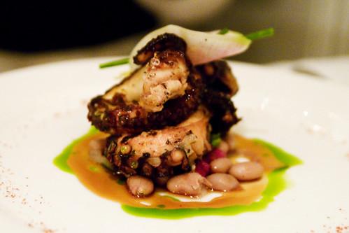 """Grilled Octopus with """"Borlotti Marinati"""""""