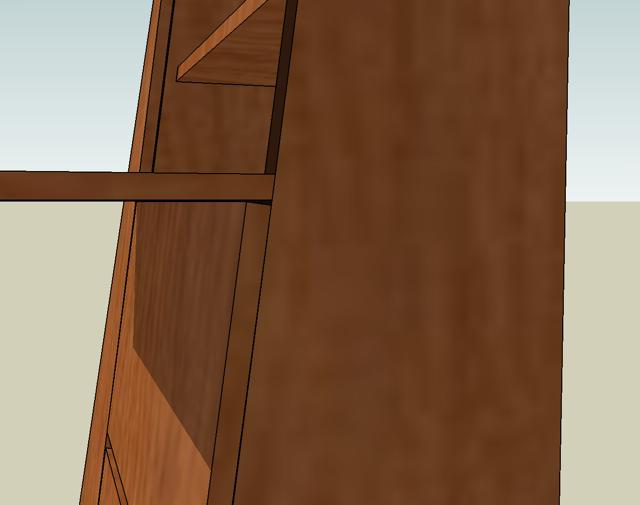 Detail of door clearance