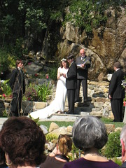 Saul and Ciera During Ceremony