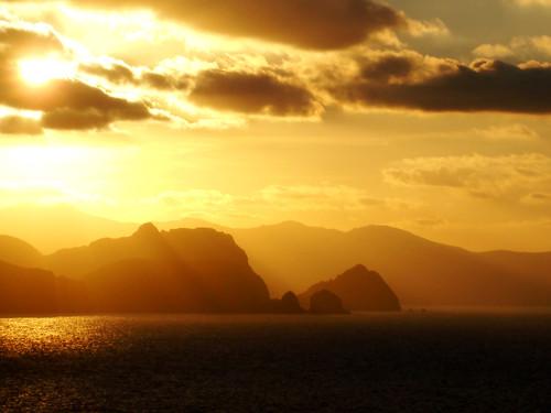 Coucher de soleil sur Annaba en Algérie
