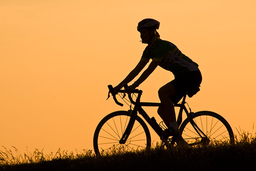 Sunset cycling by Håkan Dahlström, on Flickr