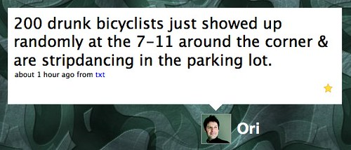 Twitter / Ori: 200 drunk bicyclists just s...