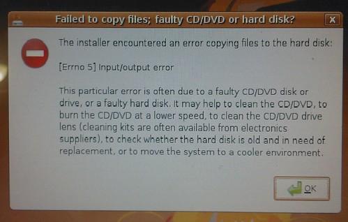Ubuntu 8.04 install error