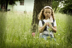 Making a wish ({Emily}) Tags: summer girl children spring dandelion naturallightphotography bonneterremo emphotography