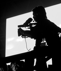 Behind the limelight (SUKMA XII 2008, Terengganu) (Fadzly @ Shutterhack) Tags: light shadow people blackandwhite bw hot sports monochrome silhouette night d50 dark asian pho