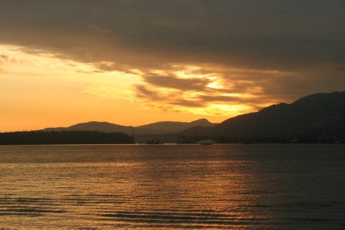 sunset over Burrard Inlet