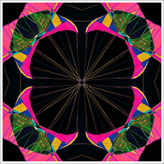 Kite Kaleidoscope (hz536n/George Thomas) Tags: pink summer kite abstract black oklahoma kaleidoscope stillwater 2008 cs3 canon30d canonef70200mmf4lusm