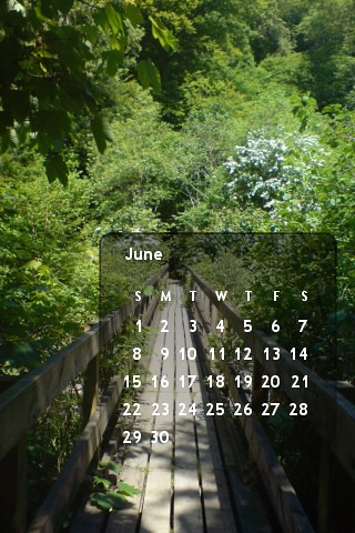 June's calendar (for iPhone)