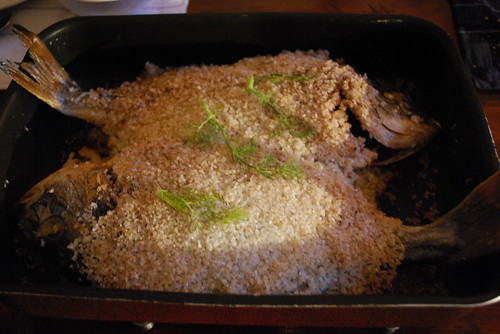 Daurades royales en croute de sel