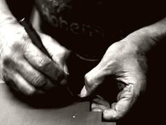 working hands (kubse) Tags: old leather metal shop shoe factory hand machine rubber repair singer dust handcraft werkstatt craftman nähmaschine abigfave diamondclassphotographer flickrdiamond multimegashot atqueartificia