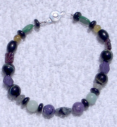 stone bead bracelet by firecatstef, on Flickr