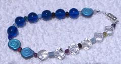 two-tone glass bracelet