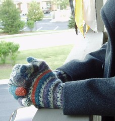Long Cuff Gloves with wool coat