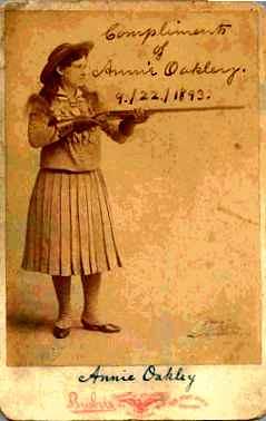 Annie Oakley card