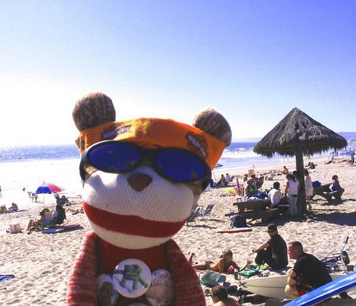 Sock Monkey in San Clemente