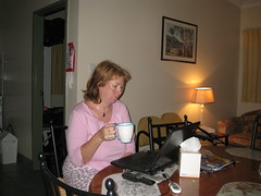 early morning tea and blog reading