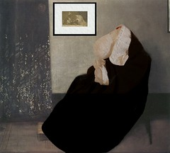Day 228 - Whistler's Sheep (Shaun_Sheep) Tags: portrait london painting sheep shaun whistlersmother 1871 project365 jamesmcneillwhistler comfyblanket sheepinarthistory artthemeweek whistlerssheep