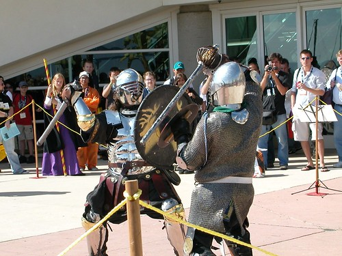 Everybody was black knight fightin'