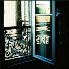 if you dream of other worlds (filtran) Tags: france reflection window rollei bordeaux fujifilm 35b rollei35b