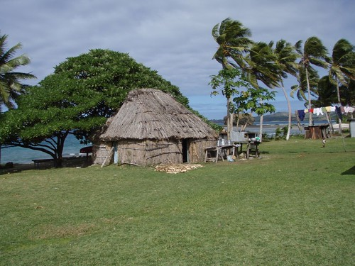 Traditional home.  Tamasua village, Yasawa Island