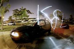 """K&L"" light painting. (CAUSTlC) Tags: lightpainting night honda lomography civic sir ek4"