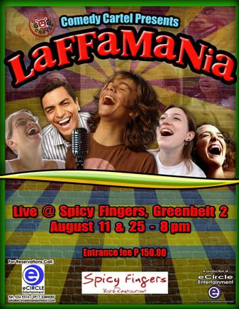 Fwd: Watch LAFFAMANIA on August 11 @ Spicy Fingers - 8pm