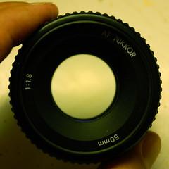 50mm f/1.8 lens front