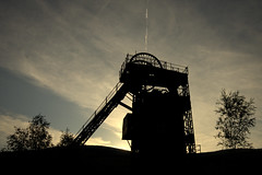 Winding Tower Silhouette (J Samuel) Tags: silhouette wales headframe neath windingtower pithead crynant jamessamuel cefncoedcolliery