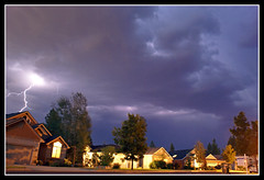 Stormy Street (Carplips) Tags: longexposure dark spokane bright foreboding bolt electricity thunderstorm lightning cumulonimbus sonya100 aplusphoto holidaysvacanzeurlaub stratusfractus
