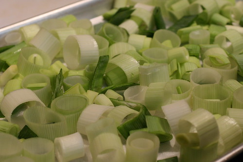 Raw Leek Rings Drying
