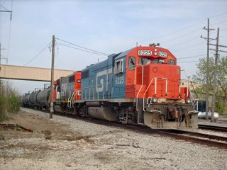 Westbound Canadian National unit tank train. Hawthorne Junction. Chicago / Cicero Illinois. May 2007.