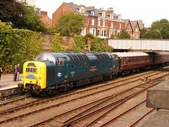 55022 Royal Scots Grey (mike_j's photos) Tags: scarborough railtour britishrail deltic class55 d9000 royalscotsgrey 55022
