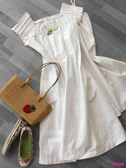 The White Dress (sew-mad) Tags: white fashion magazine japanese book dress sewing craft mrs eyelet drafting nhen stylebook sewmadbadge sewmad