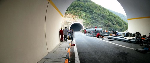 5km long tunnel on G70 expressway east of Xian, Shaanxi Province, China