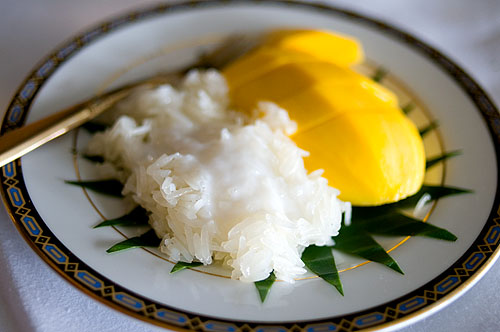 Mango and sticky rice, Sorndaeng, Bangkok