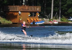 The young and the brave! (**Mary**) Tags: summer lake ontario canada water marine child georgianbay young waterskiing summertime muskoka cottagelife gohomelake slalomskiing