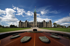 (scienceduck) Tags: 15fav ontario canada public water fountain clouds 510fav fire ottawa capital parliament wideangle september flame parliamenthill peacetower gothicrevival centennialflame centreblock nationscapital scienceduck canadianparliamentbuilding thomasfuller