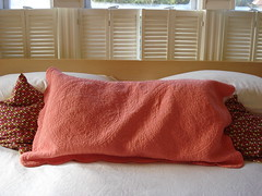 I love the color coral (On Bradstreet) Tags: ikea bedroom shutters oceanview malm ourbedroom paintedfloors antiquewoodwork cottageinteriors beachcottageliving paintedwoodfloors interiorwoodenshutters ikeainmybedroom modernandantique modernlivinginoldhouses antiquemoldings ilovethecolorcoral indianblockprintquilt