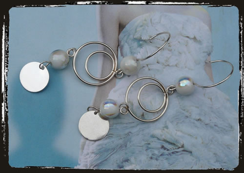Orecchini bianchi - Pearl white earrings AMHLBTO