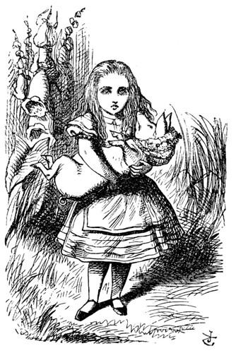 E- Alicia y el bebe cerdo- Edicion 1866- Tenniel