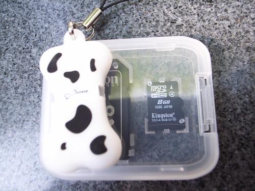 敗家:狗骨頭Micro SD讀卡機(白)@優仕+8GB Micro SD記憶卡