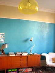 Teal (Parfait amour) Tags: lamp chair drawing teal room ceiling anglepoise ribbon habitat sideboard kartell