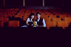 Not So Scary Movie (Fallen Rose Media) Tags: boy cinema dan girl rose 60s media chairs models retro fallen movies 50s drea